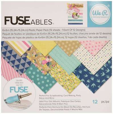 """We R Memory Keepers 12 Sheet Fuseables Patterned Paper Pack, 6 x 6"""""""