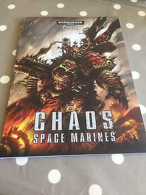 Warhammer 40K Chaos Space Marines Codex Soft Cover *NEW* Free Post