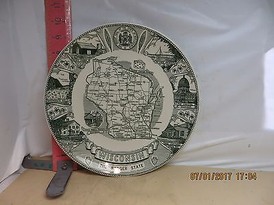 Wisconsin , The Badger State Plate - From Circus World Museum In Baraboo