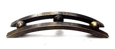 "Brass RETRO Antique Hardware MCM Art Deco Drawer Pull 2 3/4"" center Vintage"