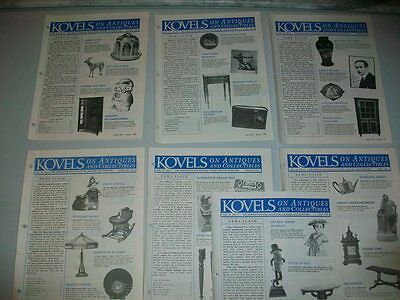 Kovel's On Antiques And Collectables Newsletter - 7 Issues From 1993