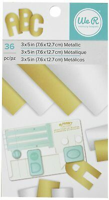 American Crafts We R Memory Keepers Paper Pad Metallic Gold and Silver Foil 36 S