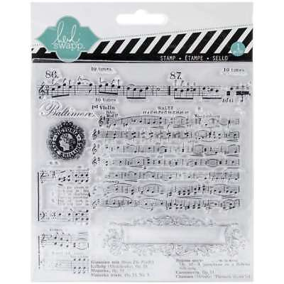 Heidi Swapp Clear Stamp, Music Notes