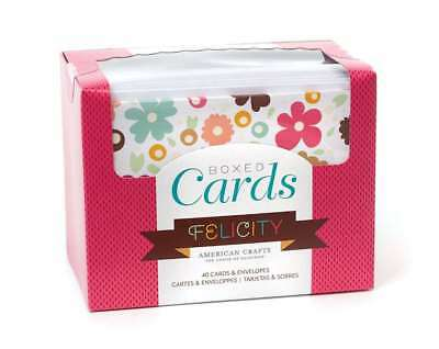 Boxed 40 Cards & Envelopes - Felicity