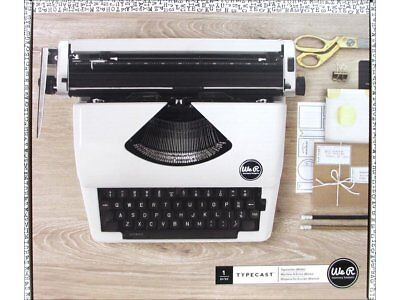 American Crafts We R Memory Keepers Typecast Typewriter Retro Style - White Colo