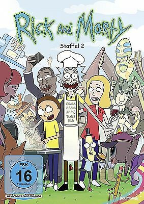RICK AND MORTY  - COMPLETE SEASON 2-  DVD - PAL Region 2 - & New