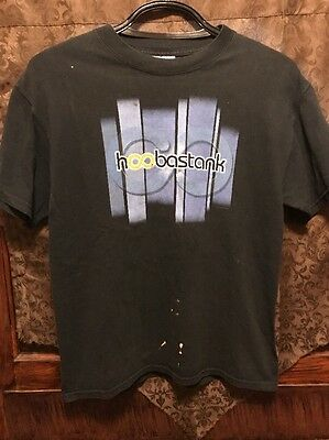 HOOBASTANK ~ Men's MED ~ Vintage 2002 ~ DISTRESSED Tour Concert T Shirt