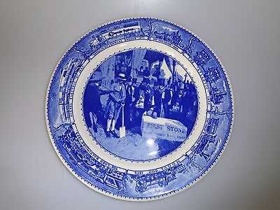 Shenango Syracuse China Baltimore Ohio Railroad - Dinner Plate First Stone Scene