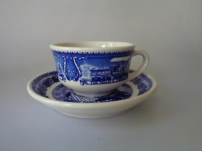Shenango Syracuse China Baltimore Ohio Railroad - Cup And Saucer Thomas Viaduct