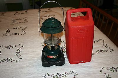 Vintage COLEMAN CL2 LANTERN WITH CARRYING CASE March 1984 Cracked Glass