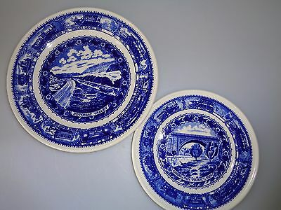Shenango Syracuse China Baltimore Ohio Railroad - Salad & Bread Butter Plates