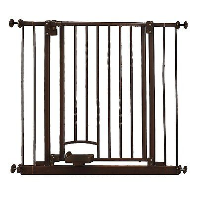 "OpenBox Supergate Step n Go Gate, Bronze, Fits Spaces between 31.25"" to 38.25"" W"