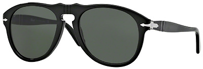 NWT Persol Sunglasses PO 649 95/31 Black / Crystal Green 54 mm PO0649 9531 NIB