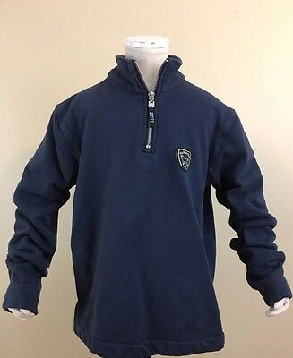 The Black Dog Martha's Vineyard Youth 1/4 Zip Navy Sweatshirt. Size XL
