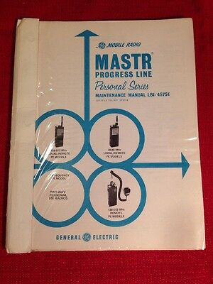 GE Manual LBI- 4575E Mastr Progress Line  PE Portable Low Band