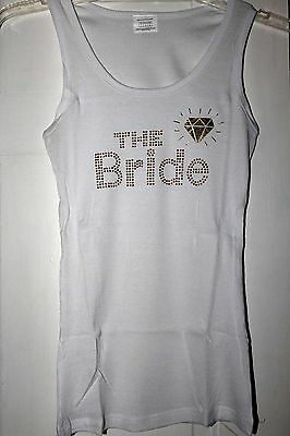 THE BRIDE White Tank Top -  Size Large - NEW