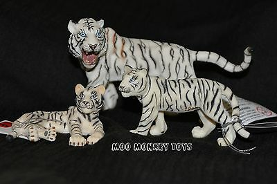 WHITE TIGER FAMILY CUBS CollectA # 88426 88428 88429 Collectible Big Cats  NWT