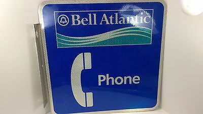 """18"""" x 18"""" flanged BELL ATLANTIC aluminum PHONE sign double sided"""
