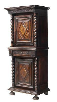 TWIST COLUMNS & FOLIATE CARVED CABINET, 18th Century  ( 1700s )