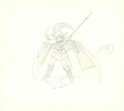 Anime Genga not Cel Record of Lodoss War (handdrawn by YUTAKA MINOWA) 2 pages#31
