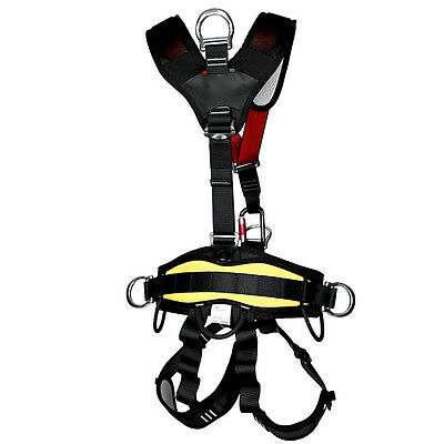 Safety Rock Tree Climbing Body Fall Protection Rappelling Harness Equipment