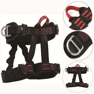 Safety Rock Tree Climbing Rappelling Harness Seat Sitting Bust Belt,Half Body