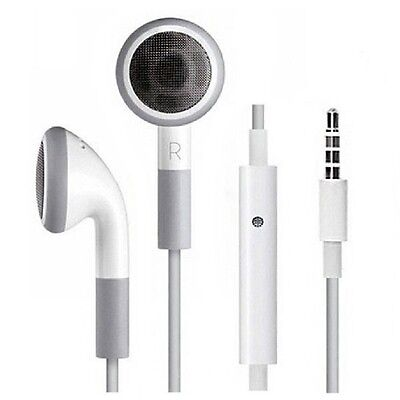 Wholesale 100/lot 3.5mm Earbuds Earphone Headset+MIC For iPhone 5 3GS 4 4S iPod