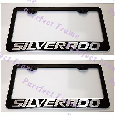 2X Toyota Solara Stainless Steel License Plate Frame Rust Free W// Caps