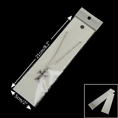 50 x New White Fashion Jewelry Necklace Card Accessory Retail Display 5 x 21cm