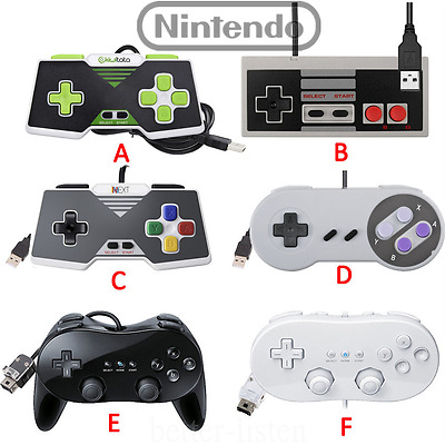 Classic Pro Gamepad SNES NES USB Controller For PC / Mac & Wii / Wii U
