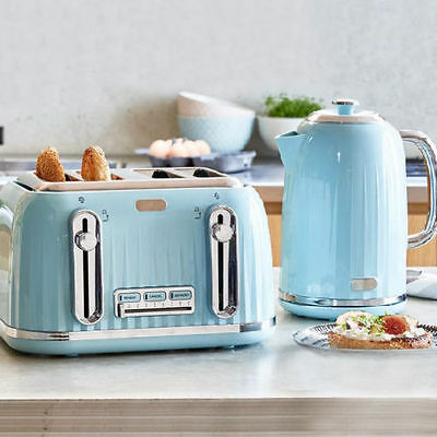 TOASTER or KETTLE or SET 4 Slice Toaster / Cordless Kettle Kitchen Combo BLUE