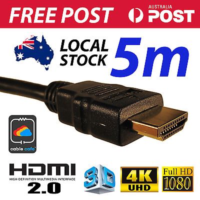 5M HDMI Cable v2.0 4K UHD 2160p 1080p 3D High Speed With Ethernet FAST FREE POST