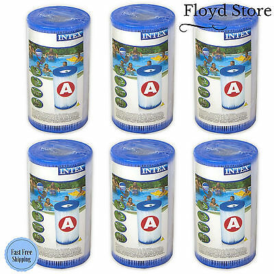 Swimming Pool Filter Cartridge For Intex Filter Pumps Type A - Pack of 6