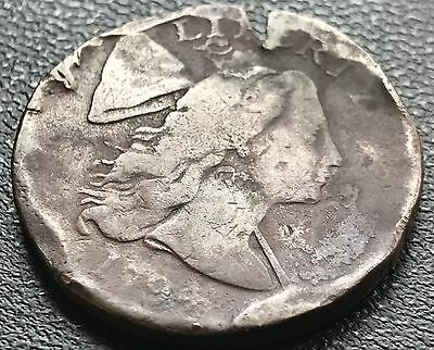 1794 Large Cent Liberty Cap Flowing Hair One Cent nice Details Damaged #5786
