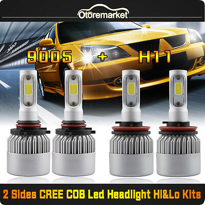 4PCS 400W 40000LM 9005 H11 CREE LED Headlight 6500K White For Toyota Ford Chevy