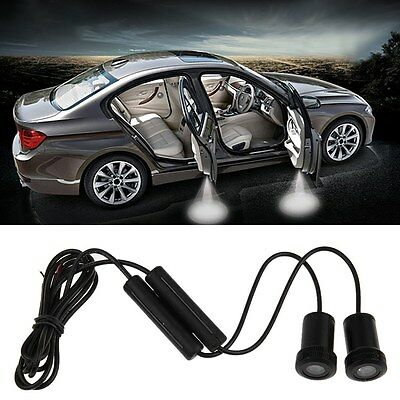2X LED Car Door Logo Laser Step Ghost Shadow Welcome Projector Light Lamp
