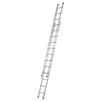 3.4m Double Ladder Extension Extendable Aluminum Folding Foldable Home Garden UK