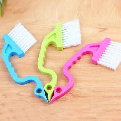 AU 2Pcs Window Track Clean Brushes Sliding Home Door Track Kitchen Cleaning Tool