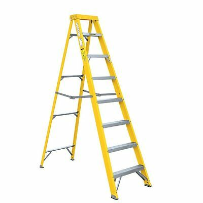 7 Step Multi Purpose Aluminium Ladder Non Slip Tread Safety Foldable Garden Work