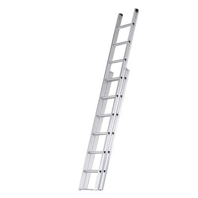 2.8m Double Extension Ladder Folding Foldable Extension Extendable Home Garden