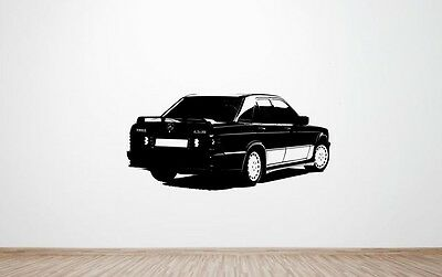 Mercedes-Benz 190E 2.5 16 Cosworth wall art decal / sticker. (HUGE) (2.3)(16V)