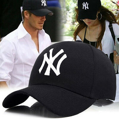 Men Women Casual Hip Hop Hat NY Snapback Baseball Caps Solid Adjustable Cap Bboy