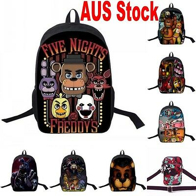 Five Nights at Freddy's Backpack Kid School Shoulder Bag Nylon Rucksack AU Stock
