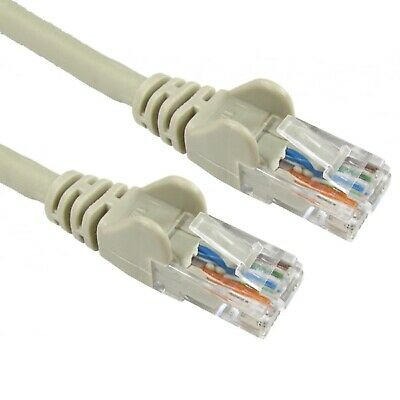 Cat5e Ethernet Network Patch Internet Router Extension Grey/white Cable lot