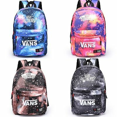 Unisex Boys Girls School Canvas Galaxy Backpack Travel Rucksack Shoulder Bag NEW