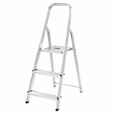 New 3 Tread Folding Stepladder 2 Step Ladder Safety Tread Non Slip Garden DIY UK