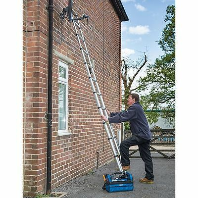 3,2m Aluminium Telescopic Ladder Extension Extendable Steps Safety Lock Folding