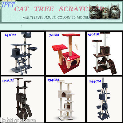 NEW Pet Cat Tree Scratching Post Scratcher Pole GYM Toy House Condo Multi Level