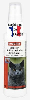 Solution Spray antiparasitaire puce pour chat au Propoxur - 100 ml BEAPHAR