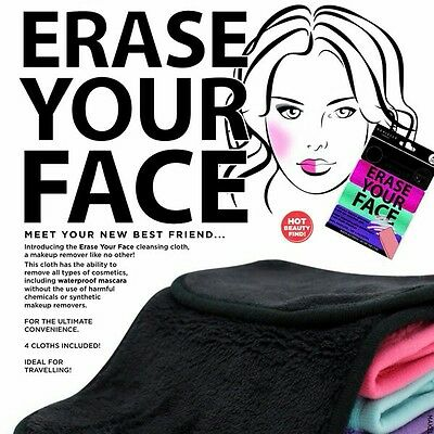 4XThe Erase Your Face cleansing cloth: a make-up remover like no other!